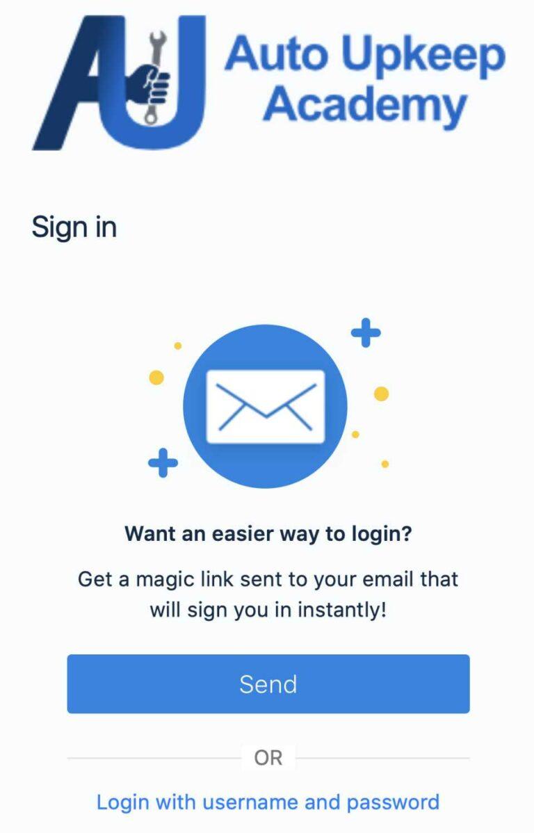 Get a magic link